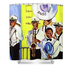Brass Of  Class New Orleans Shower Curtain by Ecinja Art Works