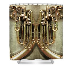 Brass Section Shower Curtain