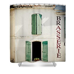 Shower Curtain featuring the photograph Brasserie by Jason Smith