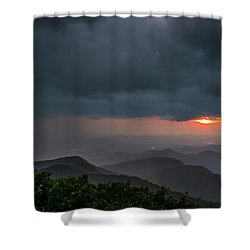 Shower Curtain featuring the photograph Brasstown Bald Sunset by Michael Sussman