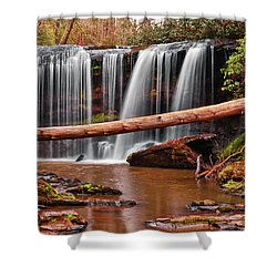 Brasstown Falls 002 Shower Curtain