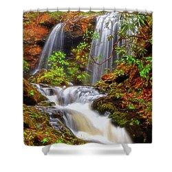 Brasstown Falls 013 Shower Curtain