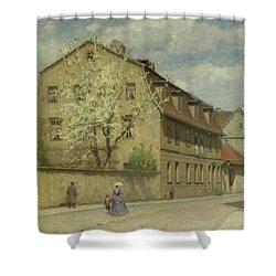 Braune Weimar Shower Curtain by Christoph Martin Weiland