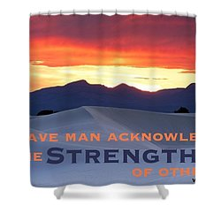 Brave Thoughts Shower Curtain