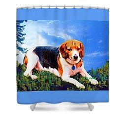 Bravo The Beagle Shower Curtain