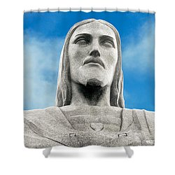 Brazilian Christ Shower Curtain