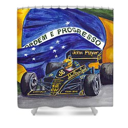 Brazil's Ayrton Senna Shower Curtain