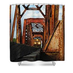 Brazos River Railroad Bridge Shower Curtain