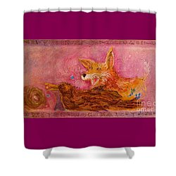 Bre Fox And Bre Crow Shower Curtain