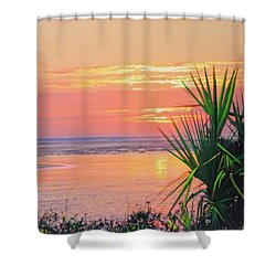 Breach Inlet Sunrise Palmetto  Shower Curtain