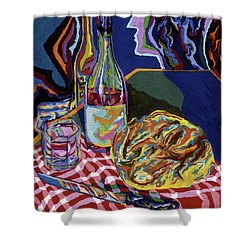 Bread And Wine Of Life Shower Curtain