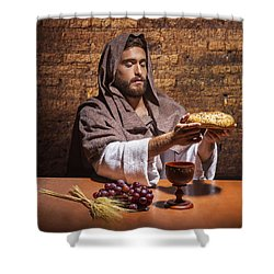 Shower Curtain featuring the painting Bread Of Life by Karen Showell