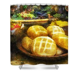 Bread Table Shower Curtain