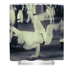 Shower Curtain featuring the photograph Break Dance by Rasma Bertz