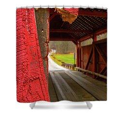 Break In The Bridge Shower Curtain