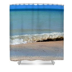 Break In The Sand Shower Curtain