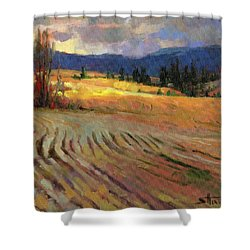 Shower Curtain featuring the painting Break In The Weather by Steve Henderson