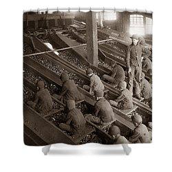 Breaker Boys Lehigh Valley Coal Co Maltby Pa Near Swoyersville Pa Early 1900s Shower Curtain