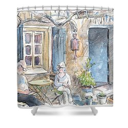 Breakfast Al Fresco Shower Curtain