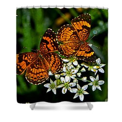 Shower Curtain featuring the photograph Breakfast At The Gardens 010 by George Bostian