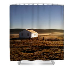 Breakfast In The Air Shower Curtain