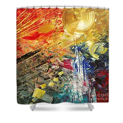 Shower Curtain featuring the painting Breakfast In Vegas by Tatiana Iliina