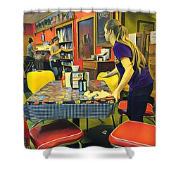Breakfast In Wimberley Shower Curtain