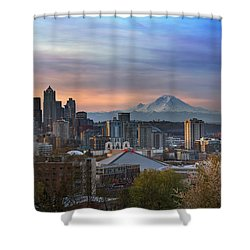 Breaking Dawn In Seattle Shower Curtain