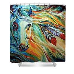 Breaking Dawn Indian War Horse Shower Curtain