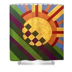 Cbs Sunday Morning Breaking Day Shower Curtain