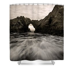 Shower Curtain featuring the photograph Breaking by Dustin  LeFevre