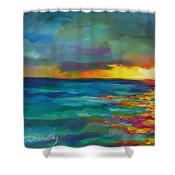 Breaking Light Shower Curtain by Chris Brandley