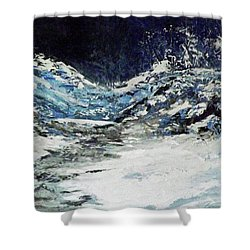 Breaking Loose Shower Curtain