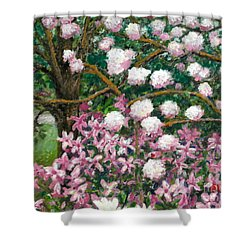 Breaking Spring Shower Curtain