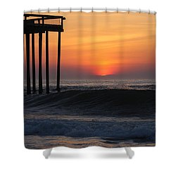 Breaking Sunrise Shower Curtain