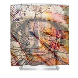 Breaking The Glass Ceiling Shower Curtain by Mary Ward