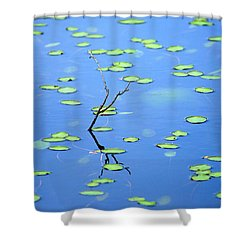 Breaking Though Shower Curtain