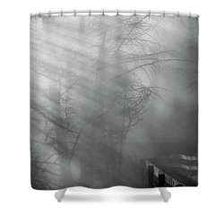 Breaking Through Shower Curtain