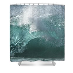 Breaking Wave Shower Curtain by Roger Mullenhour