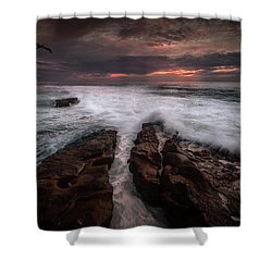 Breaking Waves, Signed Shower Curtain