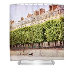 Breaktime In Paris Shower Curtain