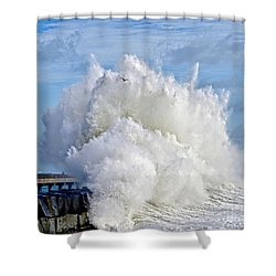 Breakwater Explosion Shower Curtain