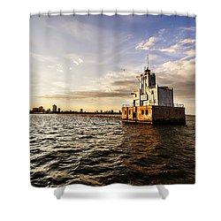 Breakwater Lighthouse Shower Curtain