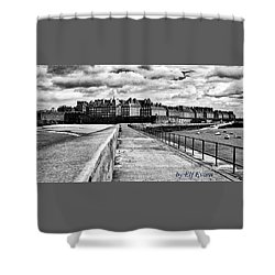 Breakwater Walkway To Intra Muros Shower Curtain
