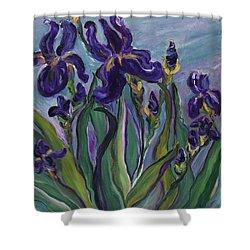 Breath Of Iris Shower Curtain by Bev Veals