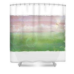 Shower Curtain featuring the digital art Breath Of Spring by Christina Lihani