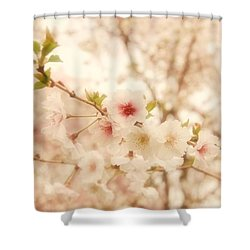 Breathe - Holmdel Park Shower Curtain by Angie Tirado