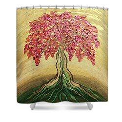 Breathe Golden Peace Shower Curtain