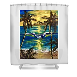 Breathe In The Moment Shower Curtain