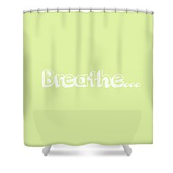 Breathe - Customizable Color Shower Curtain